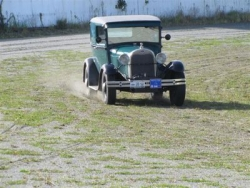 Dwayne Roark 1929 Sedan Delivery (from USA) at the Speed event at Greymouth..JPG