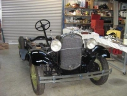 Gary Langstone 1930 Phaeton Front view of the completed chassis awaiting the body install..JPG