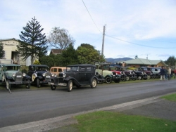 Aubrey Bateman 94 years old His Model A Tourer lined up for photos as part of the North Island Model A Ford Club Birthday run.jpg